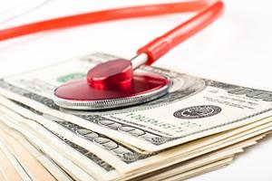 stetoskop pieniądze